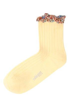 Детские хлопковые носки COLLEGIEN желтого цвета, арт. 3458/36-44 | Фото 1