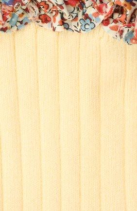 Детские хлопковые носки COLLEGIEN желтого цвета, арт. 3458/36-44 | Фото 2