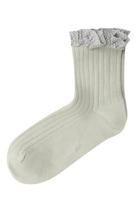 Детские хлопковые носки COLLEGIEN серого цвета, арт. 3461/18-35 | Фото 1