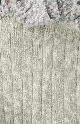 Детские хлопковые носки COLLEGIEN серого цвета, арт. 3461/18-35 | Фото 2