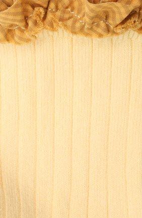 Детские хлопковые носки COLLEGIEN желтого цвета, арт. 3461/18-35 | Фото 2