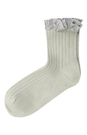 Детские хлопковые носки COLLEGIEN серого цвета, арт. 3461/36-44 | Фото 1 (Материал: Текстиль, Хлопок)
