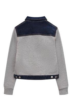 Детская джинсовая куртка DSQUARED2 синего цвета, арт. DQ0098-D005C | Фото 2 (Материал внешний: Хлопок; Рукава: Длинные; Кросс-КТ: Деним; Ростовка одежда: 10 - 11 лет | 140 - 146см, 12 лет | 152 см, 13 - 15 лет | 158 см, 8 лет | 128 см)