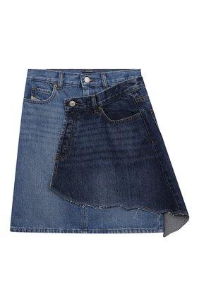 Детская джинсовая юбка DIESEL синего цвета, арт. J00048-KXB74 | Фото 1