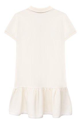 Детское хлопковое платье MONCLER белого цвета, арт. G1-954-8I700-10-8496F/4-6A | Фото 2