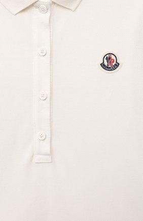 Детское хлопковое платье MONCLER белого цвета, арт. G1-954-8I700-10-8496F/12-14A   Фото 3
