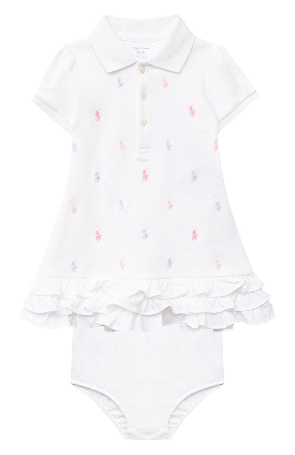 Женский комплект из платья и шорт POLO RALPH LAUREN белого цвета, арт. 310676237 | Фото 1