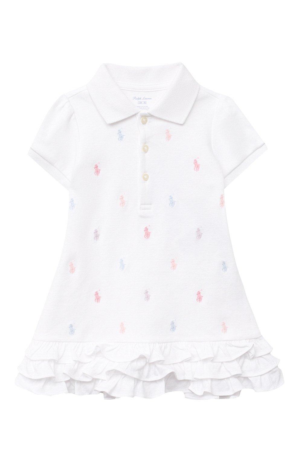 Женский комплект из платья и шорт POLO RALPH LAUREN белого цвета, арт. 310676237   Фото 2