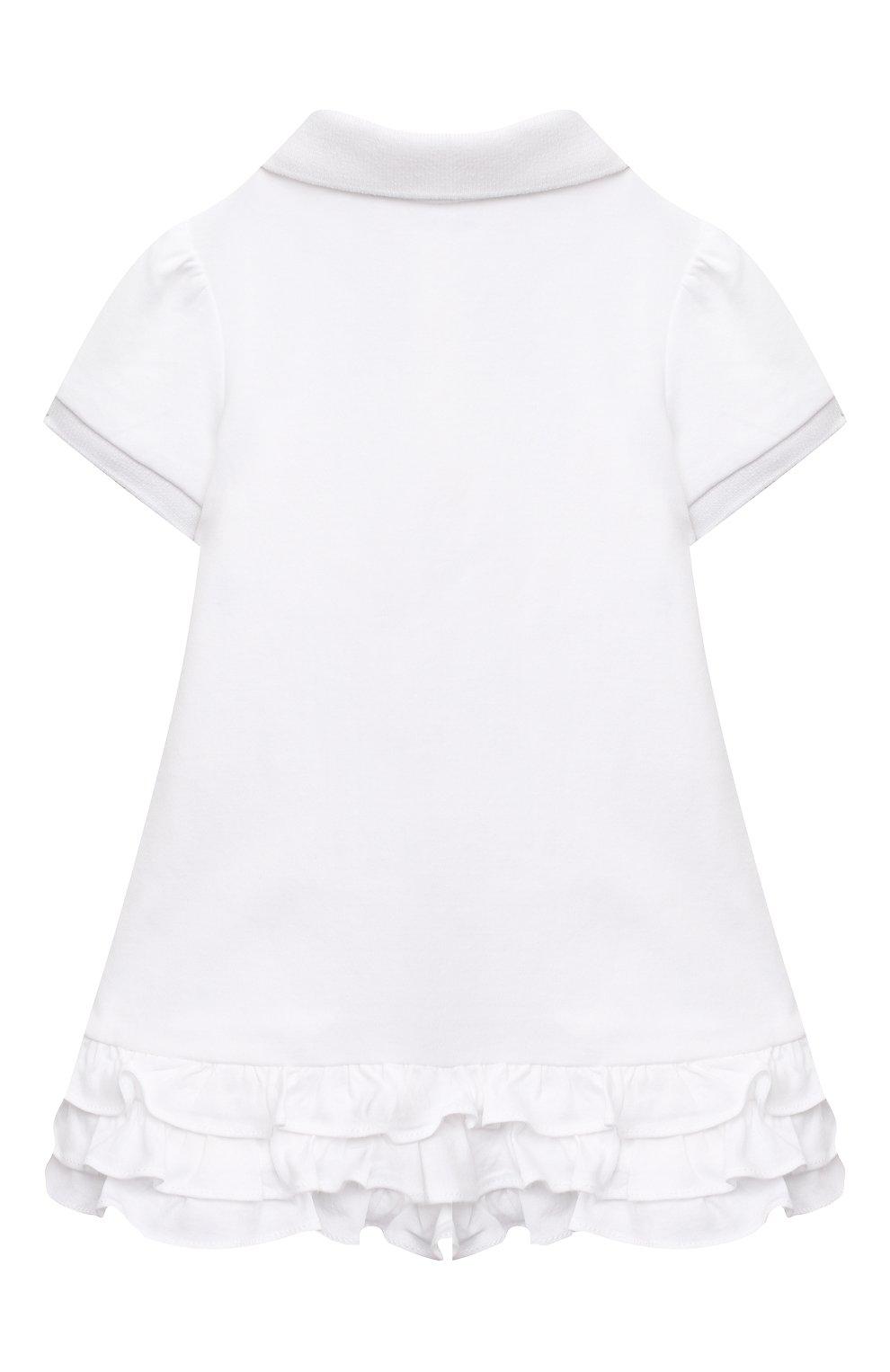 Женский комплект из платья и шорт POLO RALPH LAUREN белого цвета, арт. 310676237   Фото 3