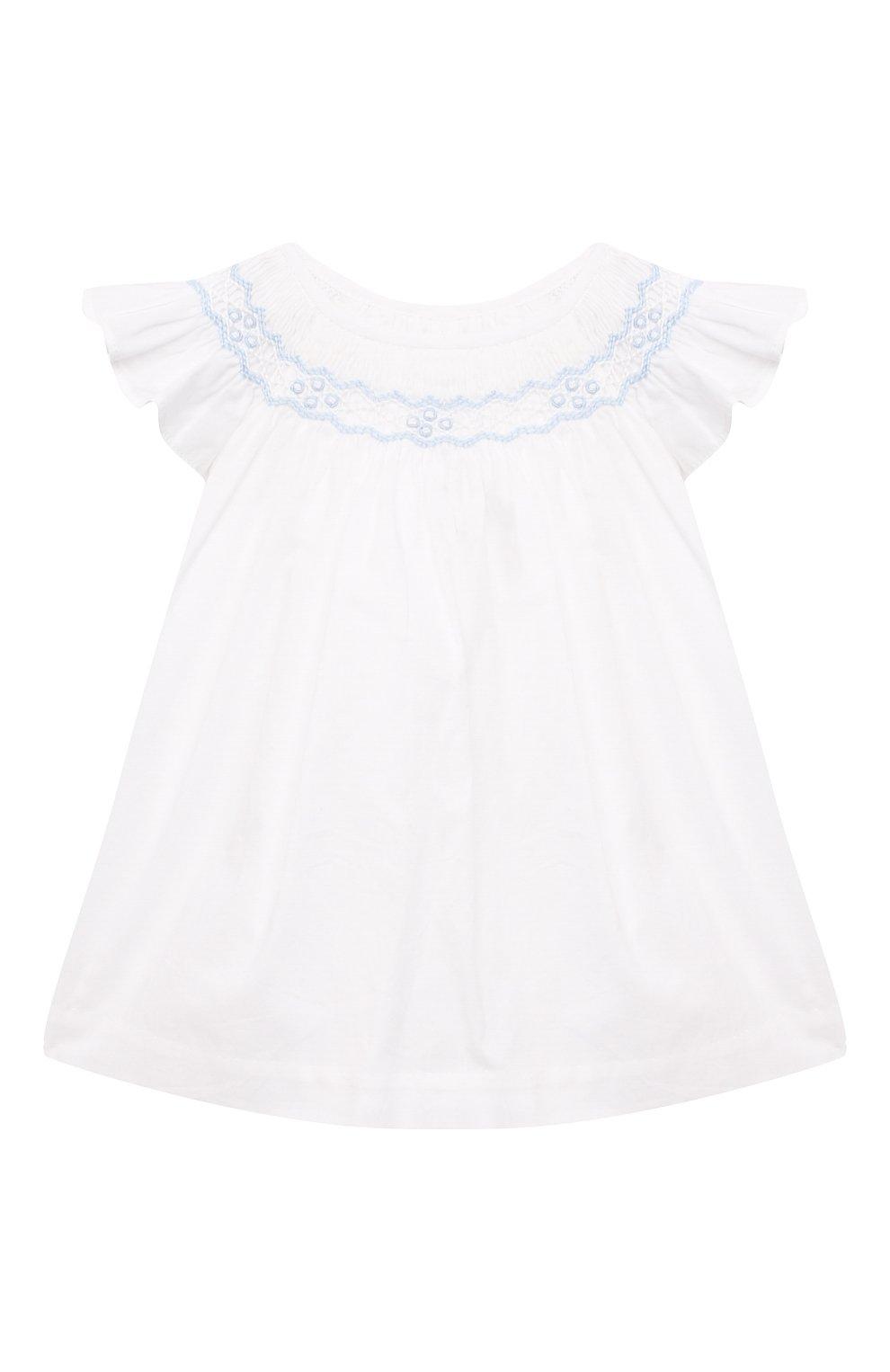 Детские комплект из платья и шорт POLO RALPH LAUREN разноцветного цвета, арт. 310835406   Фото 2