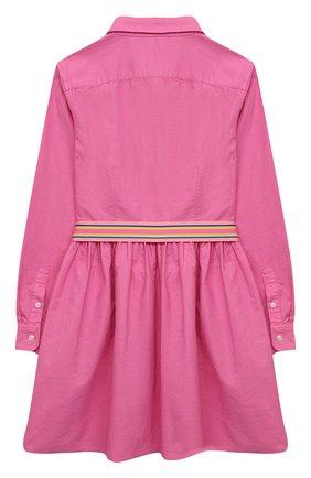 Детское хлопковое платье POLO RALPH LAUREN розового цвета, арт. 313835211 | Фото 2