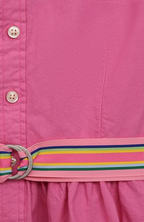 Детское хлопковое платье POLO RALPH LAUREN розового цвета, арт. 313835211 | Фото 3