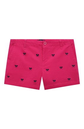 Детские хлопковые шорты POLO RALPH LAUREN фуксия цвета, арт. 313835987 | Фото 1