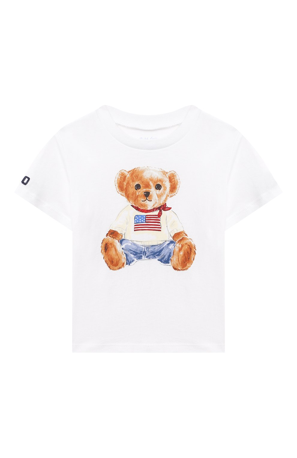 Детский хлопковая футболка POLO RALPH LAUREN белого цвета, арт. 320746618   Фото 1