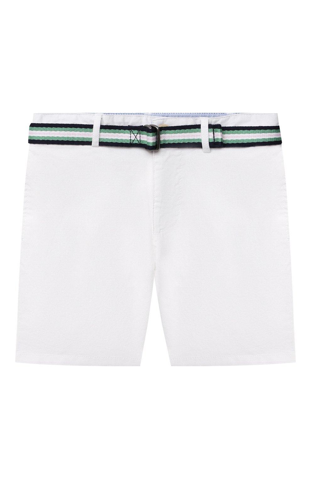 Детские хлопковые шорты POLO RALPH LAUREN белого цвета, арт. 320832061 | Фото 1