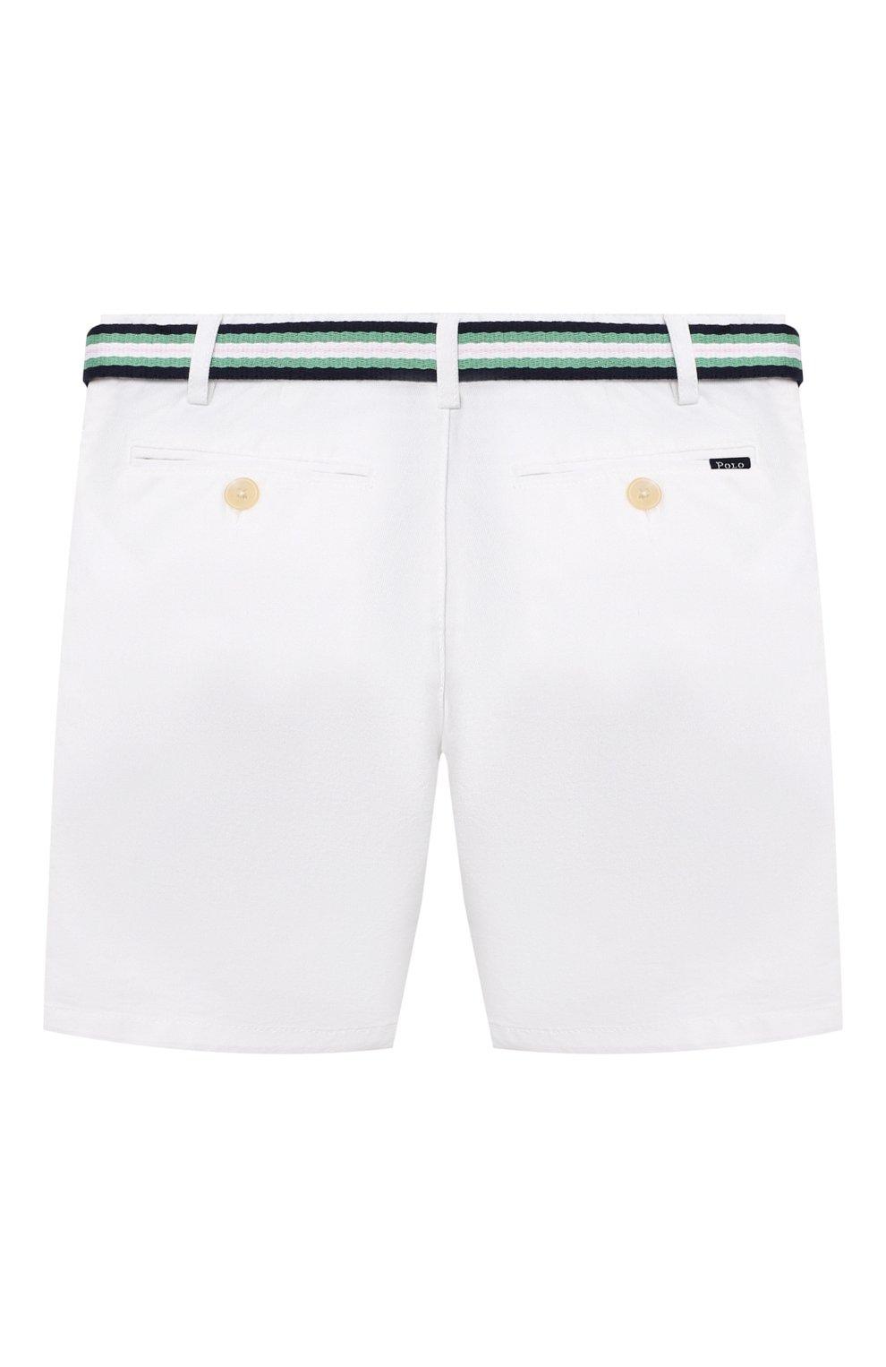 Детские хлопковые шорты POLO RALPH LAUREN белого цвета, арт. 320832061 | Фото 2