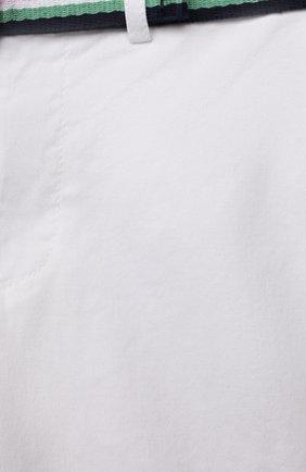 Детские хлопковые шорты POLO RALPH LAUREN белого цвета, арт. 320832061 | Фото 3