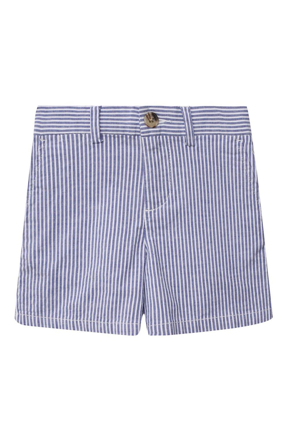 Детские хлопковые шорты POLO RALPH LAUREN голубого цвета, арт. 320834377 | Фото 1