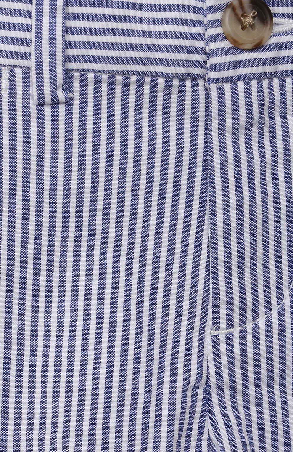 Детские хлопковые шорты POLO RALPH LAUREN голубого цвета, арт. 320834377 | Фото 3