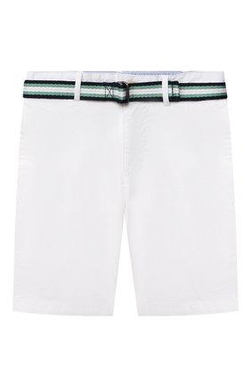 Детские хлопковые шорты POLO RALPH LAUREN белого цвета, арт. 322832061   Фото 1