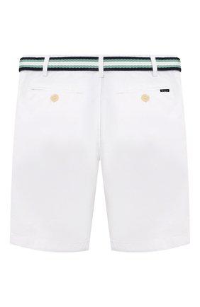 Детские хлопковые шорты POLO RALPH LAUREN белого цвета, арт. 322832061   Фото 2