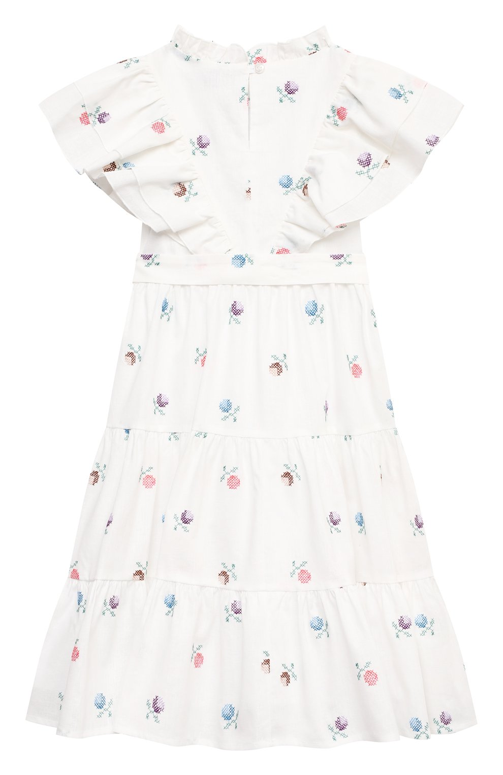 Детское платье из льна и хлопка PAADE MODE белого цвета, арт. 21210181/4Y-8Y | Фото 2