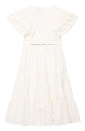 Детское хлопковое платье PAADE MODE белого цвета, арт. 21210184/10Y-14Y | Фото 2