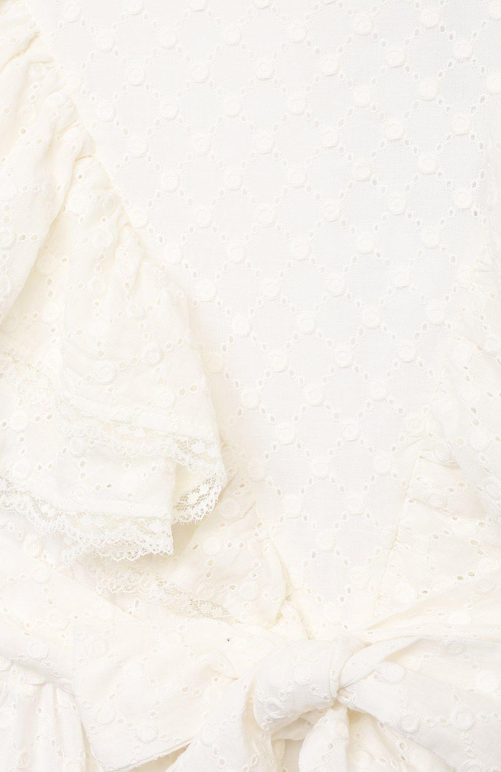 Детское хлопковое платье PAADE MODE белого цвета, арт. 21210184/10Y-14Y | Фото 3