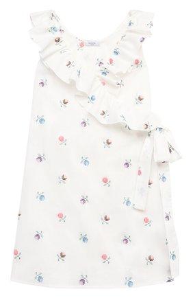Детское платье из льна и хлопка PAADE MODE белого цвета, арт. 21210681/10Y-14Y | Фото 1