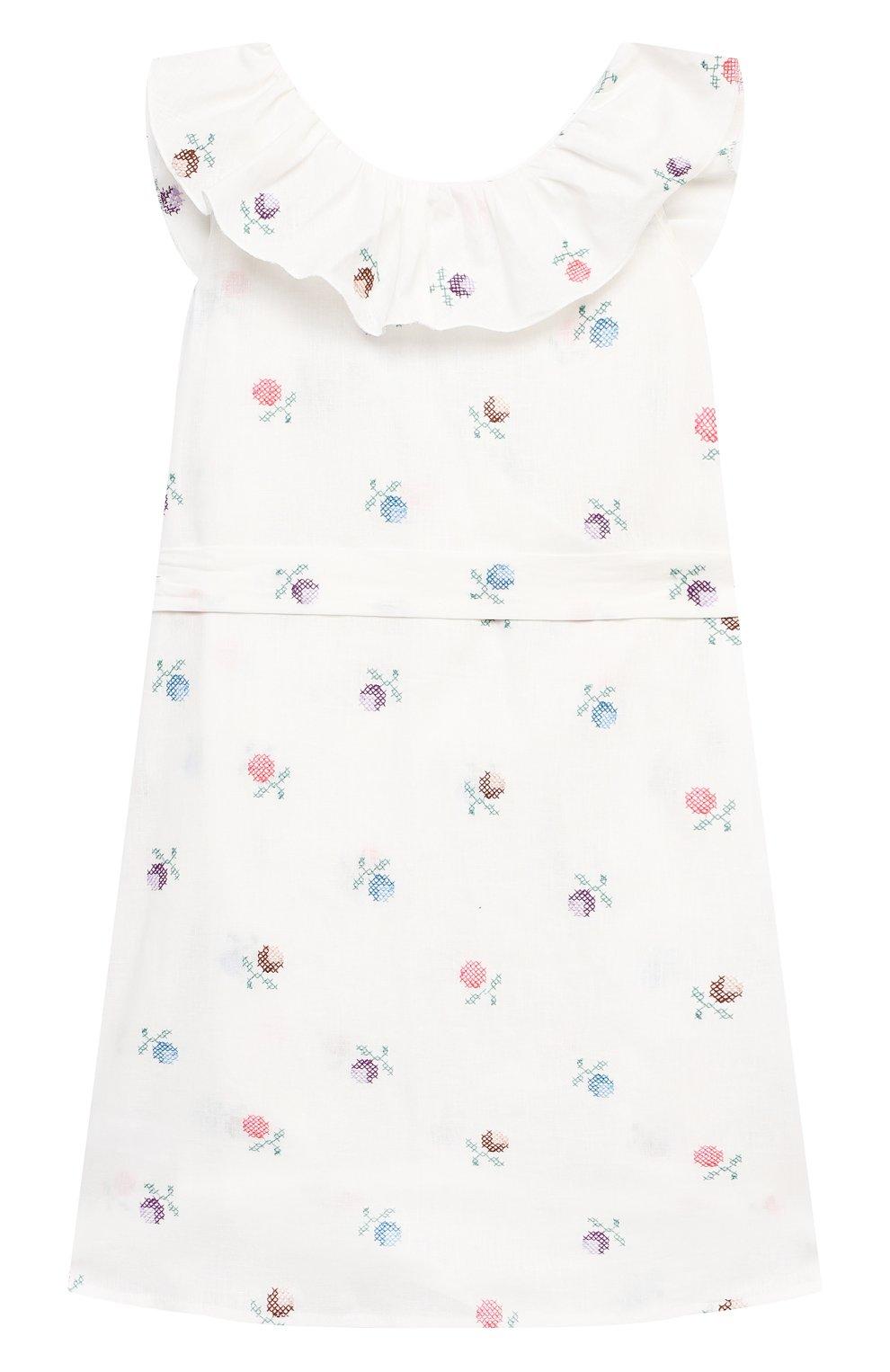 Детское платье из льна и хлопка PAADE MODE белого цвета, арт. 21210681/10Y-14Y | Фото 2