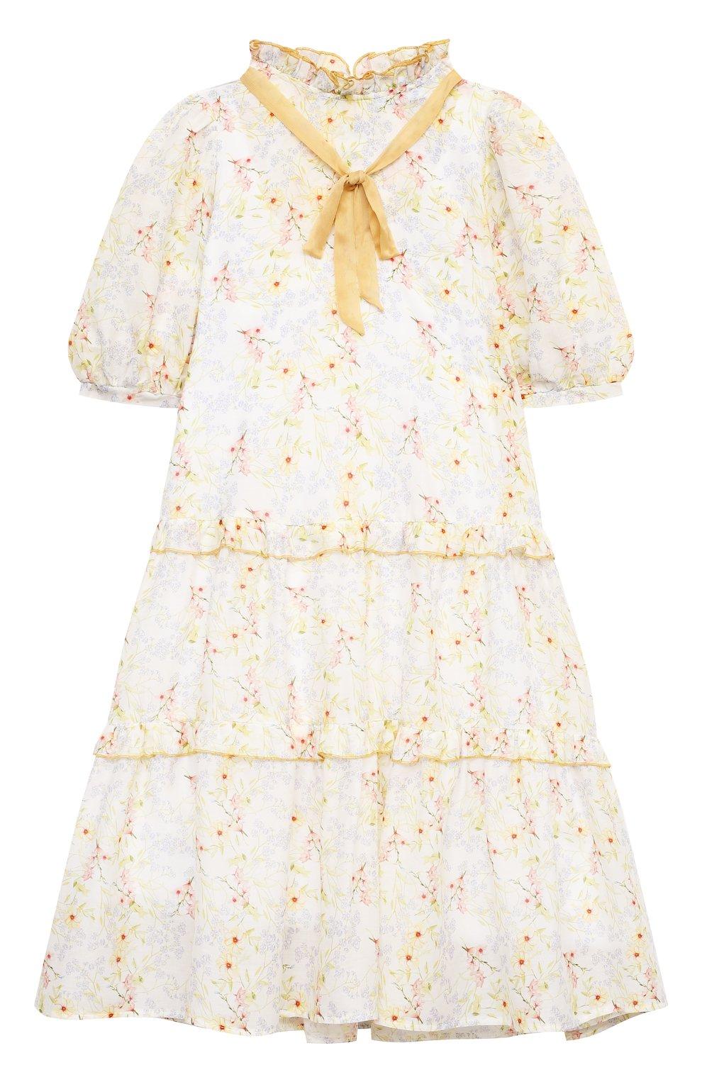 Детское хлопковое платье PAADE MODE разноцветного цвета, арт. 21210851/10Y-14Y | Фото 1