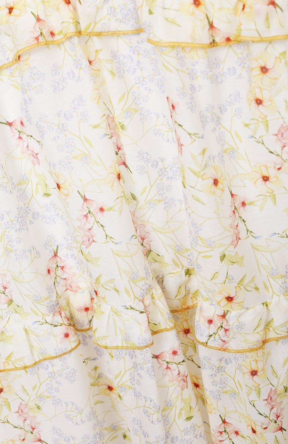 Детское хлопковое платье PAADE MODE разноцветного цвета, арт. 21210851/10Y-14Y | Фото 3