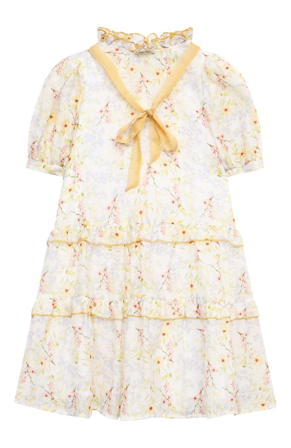 Детское хлопковое платье PAADE MODE разноцветного цвета, арт. 21210851/4Y-8Y | Фото 1