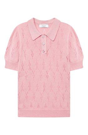 Детское хлопковый пуловер PAADE MODE розового цвета, арт. 21211523/4Y-8Y   Фото 1