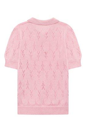 Детское хлопковый пуловер PAADE MODE розового цвета, арт. 21211523/4Y-8Y   Фото 2