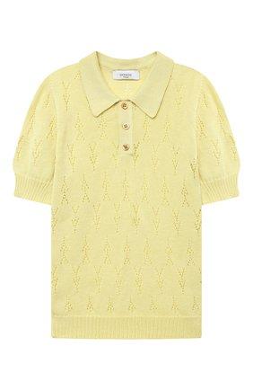 Детское хлопковый пуловер PAADE MODE желтого цвета, арт. 21211524/4Y-8Y   Фото 1