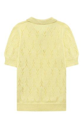 Детское хлопковый пуловер PAADE MODE желтого цвета, арт. 21211524/4Y-8Y   Фото 2