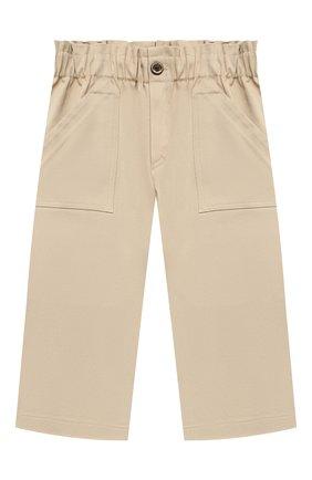 Детские хлопковые брюки PAADE MODE бежевого цвета, арт. 21218003/4Y-8Y   Фото 1