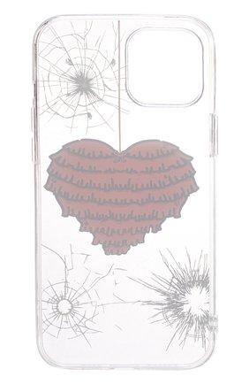 Чехол для iphone 12 pro max MISHRABOO прозрачного цвета, арт. Heart 12 Pro Max | Фото 2