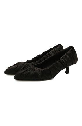 Женские текстильные туфли palmero KHAITE черного цвета, арт. F2004-452/PALMER0 | Фото 1