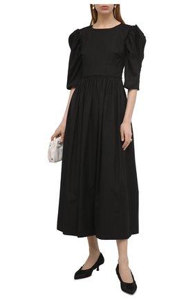 Женские текстильные туфли palmero KHAITE черного цвета, арт. F2004-452/PALMER0 | Фото 2