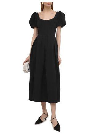 Женские текстильные туфли seville KHAITE черного цвета, арт. F3009-452/SEVILLE | Фото 2