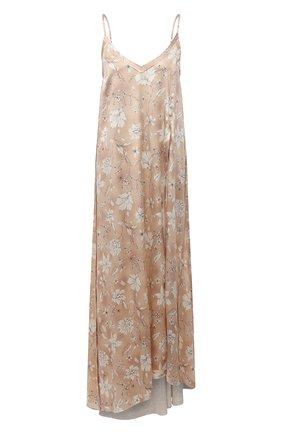 Женское шелковое платье RUBAN бежевого цвета, арт. RCSS21-12.3.52.0.3 | Фото 1