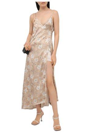 Женское шелковое платье RUBAN бежевого цвета, арт. RCSS21-12.3.52.0.3 | Фото 2