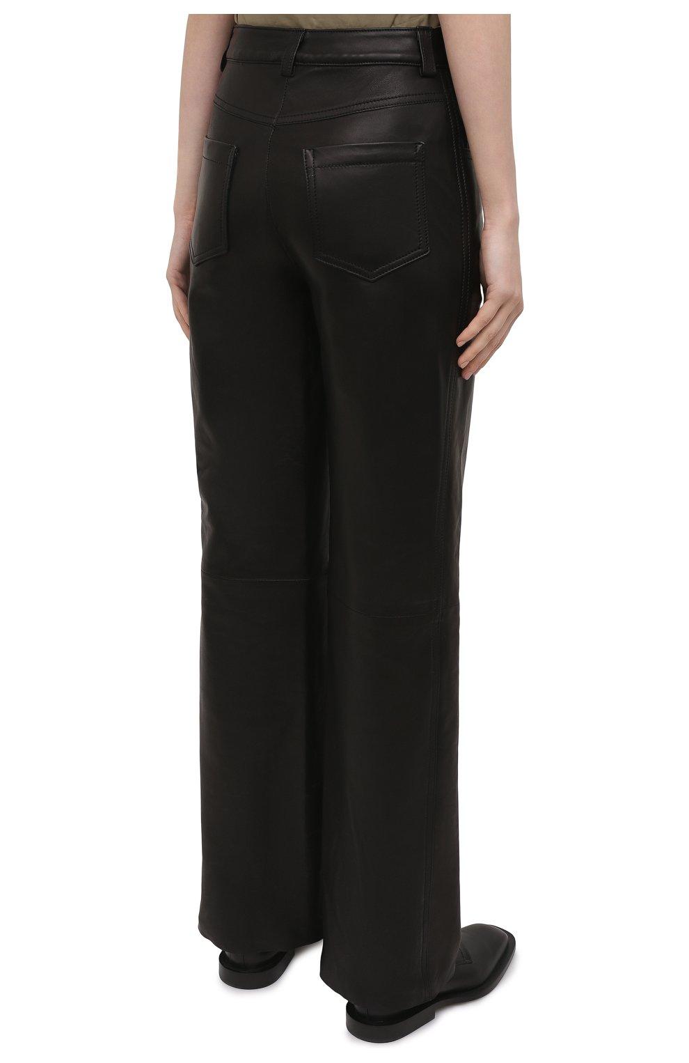 Женские кожаные брюки BATS черного цвета, арт. FW20/P_010 | Фото 4