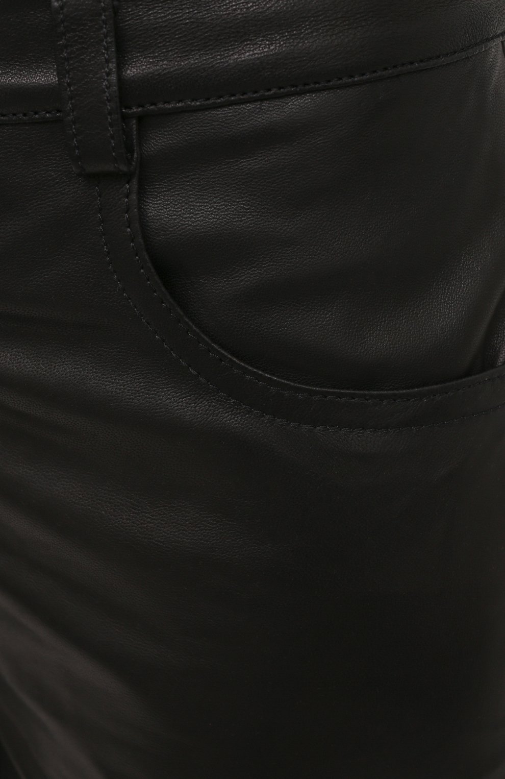 Женские кожаные брюки BATS черного цвета, арт. FW20/P_010 | Фото 5