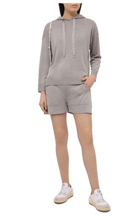 Женские шорты из вискозы FREEAGE серого цвета, арт. FSW21060264GR | Фото 2