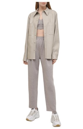 Женские брюки из вискозы FREEAGE серого цвета, арт. FSW21060049GR | Фото 2