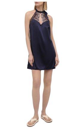 Женская шелковая сорочка LISE CHARMEL синего цвета, арт. ALG1263 | Фото 2
