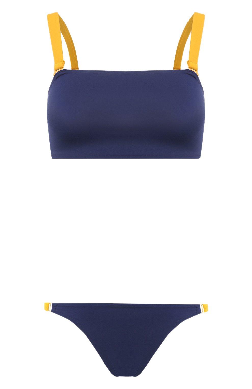 Женский раздельный купальник SHAN темно-синего цвета, арт. 42195-26-42195-31 | Фото 1 (Материал внешний: Синтетический материал)